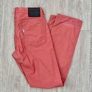 Levi's 513 slim straight brick jeans. Size 30 32